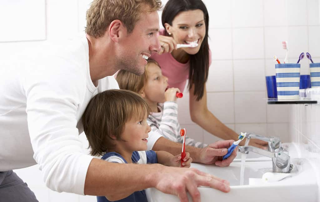 Family Brushing - Cabramatta Dental Care